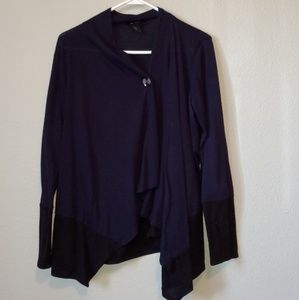 Navy button sweater